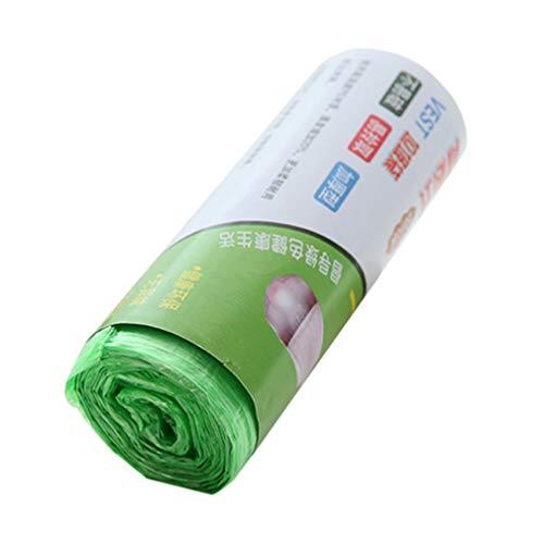 CandyTT Verdickter tragbarer Müllsack mit Weste Haushalt Neues Material Großspitzen-Müllsack Plastiktüte (grün)