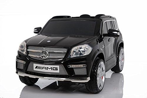 Mercedes Benz GL63 AMG Jeep SUV Lizenz Kinderfahrzeug mit 2x 35W Motor Kinderauto Elektroauto Fernbedienung MP3 Anschluss in Schwarz*
