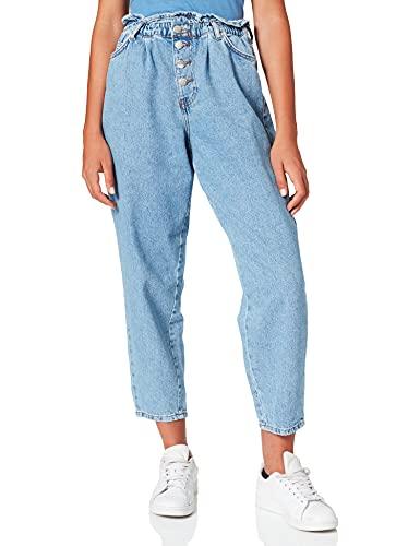 Only ONLCUBA Life HW Slouchy DNM DOT743 Noos Jeans, Mezclilla De Color Azul Claro, L para Mujer