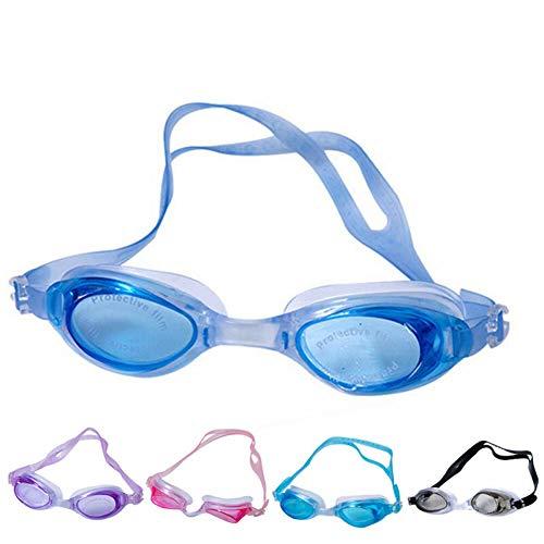 Gafas de natación de luz plana, impermeables, para hombres, mujeres, adultos y jóvenes, ajustables, Rosa roja