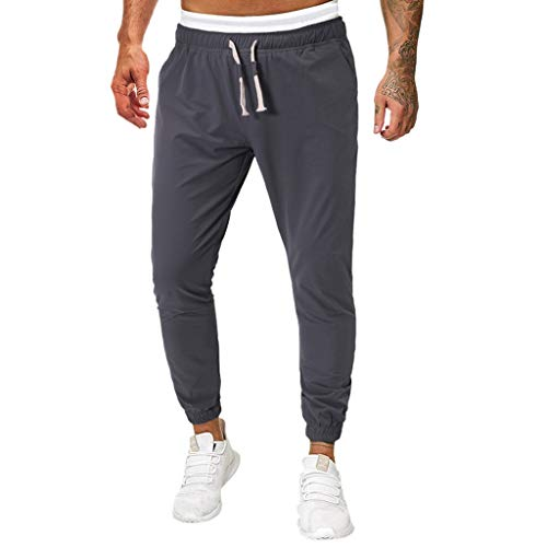 Men's Active Basic Fleece Jogger Sweatpant Dark Gray