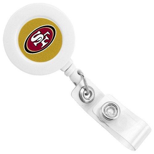 NFL San Francisco 49ers White Badge Reel