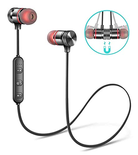LUZWE Bluetooth Earphone Wireless Headphones Sports Stereo Music Running; Gym Exercise Use Bluetooth Headset Compatible with All Smartphones