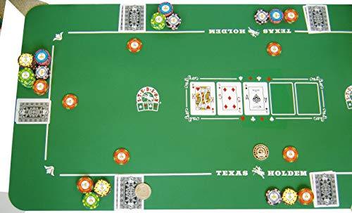 SPOT GAMES - Alfombra de Poker Studson (125 x 60 cm, Neopreno)