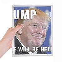 ばかなアメリカの切り札大統領のイメージ 硬質プラスチックルーズリーフノートノート