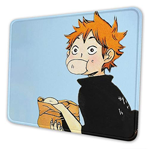 Haikyu-u Anime Mouse Pad Extended Non-Slip Rubber Base Mousepad with Stitched Edge for Home Office Study Gaming Waterproof Durable Rectangle Custom Mouse Mat 10x12 Inch