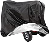 VVHOOY Mobility Scooter Cover, 210D Oxford Heavy Duty Waterproof 4 Wheel Power Scooter Travel Storage Cover All-Weather Outdoor Protection 55?x?26?x?36?inch/140 x 66 x 91 cm