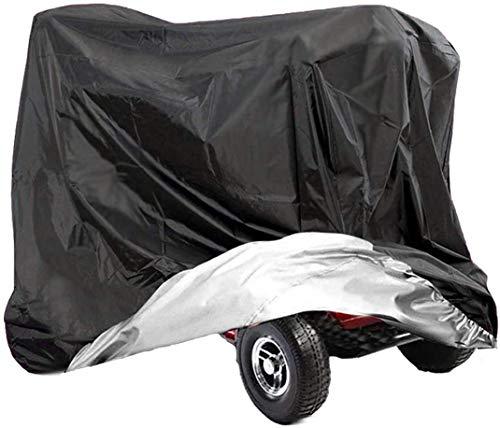 VVHOOY Abdeckung für Elektromobil, 210D Oxford, strapazierfähig, wasserdicht, 4 Räder, für Elektro-Scooter, Reisen, Allwetter-Schutz, 140 x 66 x 91 cm