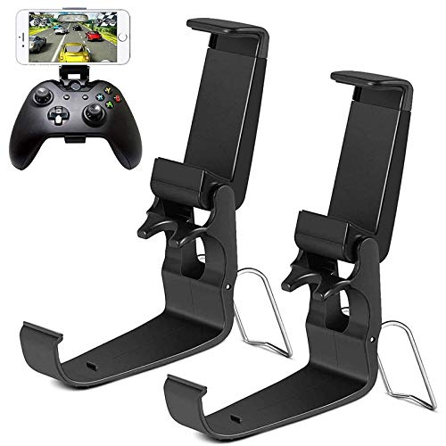 HJD Store - Supporto pieghevole per telefono cellulare, 2 pezzi, per iPhone/One-Plus/LG/Huawei/HTC, compatibile con Xbox One/Steelseries Nimbus/Steam Controller