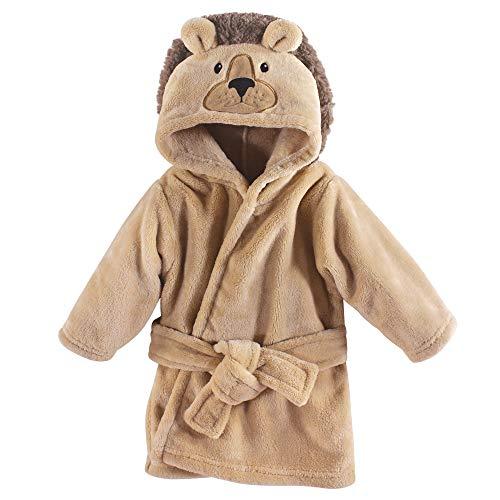 Hudson Baby Soft Plush Baby Bathrobe, Lion, Lion, 0-9 Months