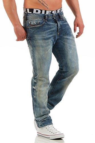 Diesel Herren Jeans Buster 0845L Regular Slim Tapered Hose Farbe: 0845L; Größe: W27/L30