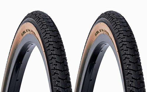 ONOGAL 2X Cubierta DSI Clasica Color Negro y Crema 700 28 x 1 1/2 40 635 de Bicicleta 6314
