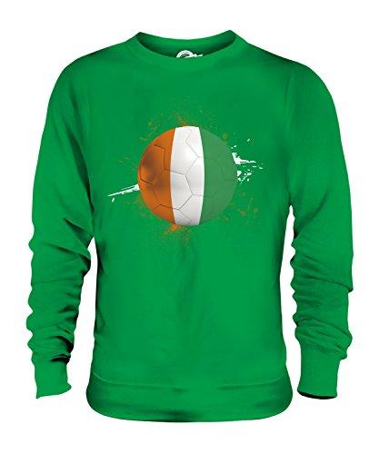Candymix – Ivory Coast Football Splatter – Sudadera unisex para hombre y mujer Verde verde (Irish Green) XL