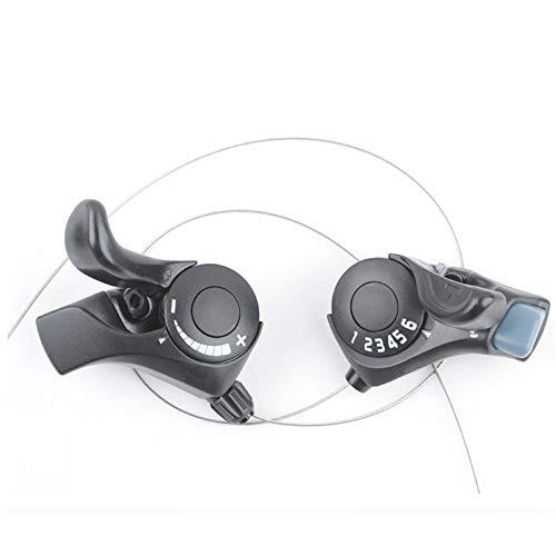 TX30-6 Palanca de cambios de bicicleta de montaña Transmisión de 6 velocidades 18 velocidades interruptor de mano universal para S-h-i-m-a-n-o izquierda/derecha/par opcional (1 par)