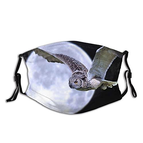 Máscara facial de moda cómoda noche luna pájaro búho vuelo a prueba de sol moda Bandana Headwear para la pesca
