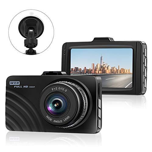"Car Dash Cam,1080P Car Camera Car On-Dash Video DVR Dashboard Recorder with 3.0"" LCD Screen, Night Vision, G-Sensor, WDR, Loop Recording, Parking Monitor Motion Detection"