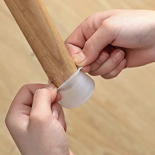 NszzJixo9 - Tapón de Silicona para Patas de Silla, 4 Unidades, Protector de Suelo para Muebles, Patas de Silla, Protector de Piso de Silicona Redondo para Muebles y Patas de Mesa