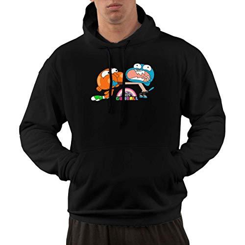 WXWX Felpe con Cappuccio da Uomo Lo Straordinario Mondo di Gumball Brother Felpa Pullover in Pile con Tasche