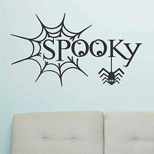 Halloween Dekoration Ghost Spider Web Feier Urlaub Design Schlafzimmer Tür Tapete Kinder Geschenk Applikation Vinyl Aufkleber Dekoration 43x76 cm