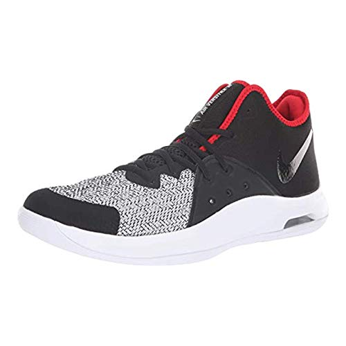 Nike Men's Air Versitile Iii Blk/Wht/D.Grey Basketball Shoes-8 UK (AO4430-003)