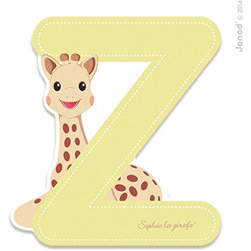 Janod Lettre Série Sophie LA Girafe Bois - Z J09570, Multicolore 1 - Version Espagnole
