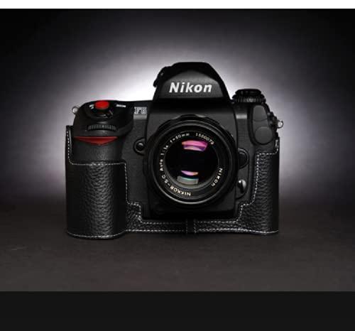STST Estuche para cámara/Estuche de Cuero para cámara Base de Cuero Genuino Hecho a Mano para Nikon F4 F6,Negro,F6