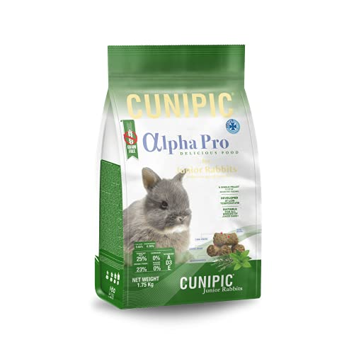 Cunipic Alpha Pro Comida Conejo Junior 500GR, Negro, 500 grs