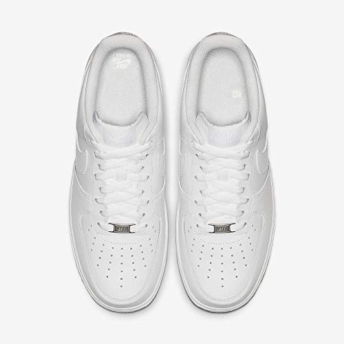 Nike Mens Air Force 1 Low Sneaker (White/White, 9.5, 315122-111) (10.5)