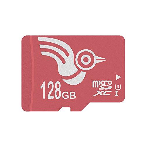 ADROITLARK 128GB Micro SD Karte U3 Klasse 10 MicroSDXC Speicherkarte für Telefon/Dashcam/Kamera/Tablets mit kostenlosem SD Adapter (U3 128GB)