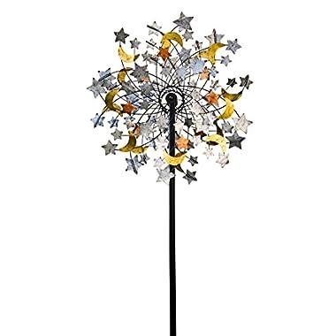 Plow & Hearth 54322 Celestial Confetti Garden Wind Spinner