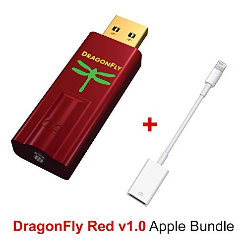 AudioQuest Dragonfly Red Mobile Bundle With DragonFly Red (Portable USB Preamp, Headphone Amp/DAC) And Lightning To USB Camera Adapter for Connection...