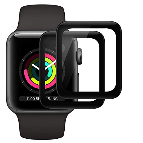 RSSYTZ [2 Pack Protector de Pantalla para Apple Watch Series 3/2 /1 38mm, [Caso amistoso] [Sin Burbujas] [Instalación Fácil] [TPU-Film] HD Soft Claro Suave para Apple Watch Series 3/2 /1 38mm