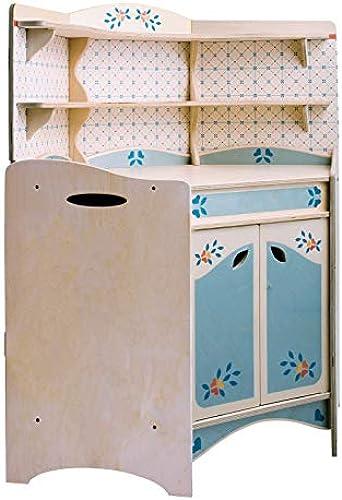 DIDA - Spielküche, Küchenm l für die Zimmerecke, Teil der zusammensetzbaren Küche aus Holz für Kinder, komplette H  77 cm, H  bis zur Arbeitsfl e 46cm, auch einzeln verkaufür.