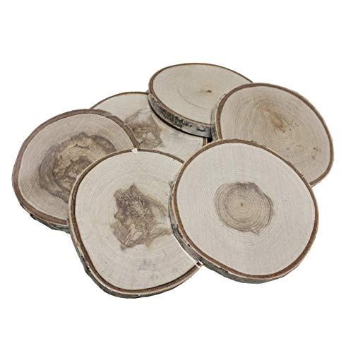 Walnut Hollow 42235 Birch Round, Medium, Wood 6 Pack