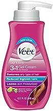 Hair Removal Cream – VEET Silk and Fresh Technology Legs & Body Gel Cream Hair Remover, Sensitive Formula with Aloe Vera and Vitamin E, 13.5 FL OZ Pump Bottle (Pack of 2)