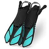 Greatever Snorkel Fins Adjustable Buckles Open Heel Swim Flippers...