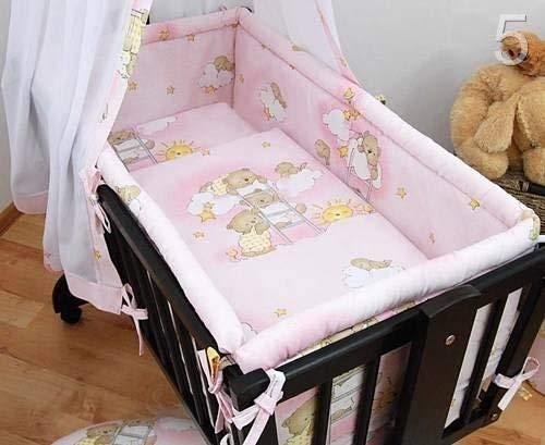 Grand lit rembourré 260 cm de long pour s'adapter à Standard/berceau 90 x 40 cm – sur échelles Rose
