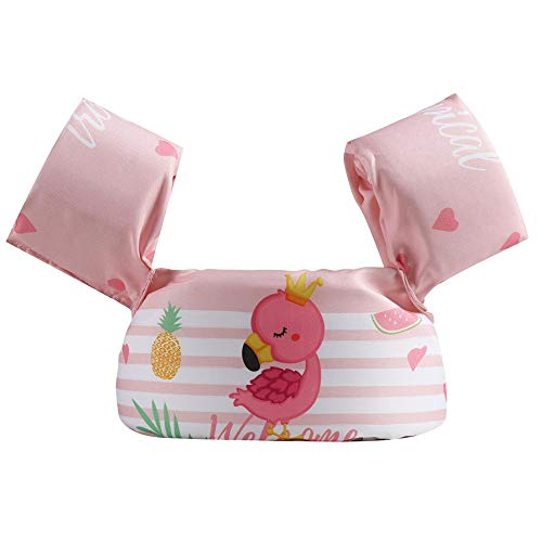 Puoyis Toddler Kids Swim Life Vest, Girls and Boys Swim Vest Swimming Training Life Jacket, Children Swim Vest for Puddle/Beach,Play Like Jumper