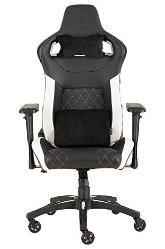 CORSAIR CF-9010012 WW T1 Gaming Chair Racing Design, Black/White chair gaming white