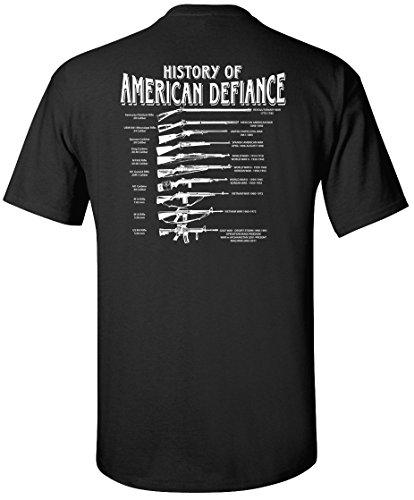 Gadsden and Culpeper History of American Defiance T-Shirt (Black)