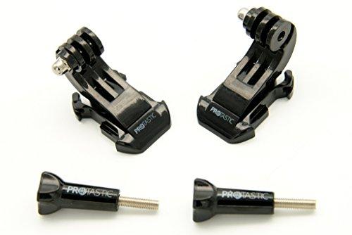 PROtastic 2 x J-Haken Quick Release Schnalle und Daumen Schrauben für GoPro Hero/SJCAM Action Kameras (Radfahren, Klettern Helme etc.)