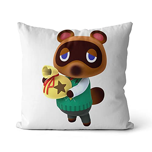 Funda de cojín Animal Crossing Square Funda de cojín Impresa Funda de cojín Cuadrada de impresión para sofá Dormitorio Sala de Estar 18x18 Pulgadas / 45x45cm