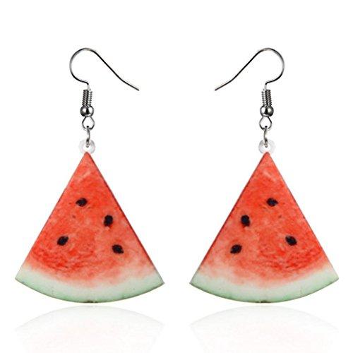 Women's Earrings, ManxiVoo 1Pair Women Large Fruit Dangle Earring Strawberry Pineapple Long Drop Jewelry Fish Hook (C)