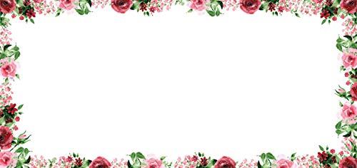 Briefkarten Set Rose I 50 Motiv-Karten in DIN lang rosa rot hell-grün I vintage Blume I Frühling Einladung Geburtstag Valentinstag Liebe I dv_448