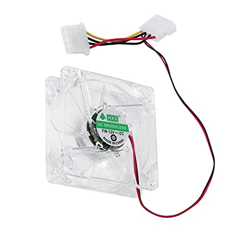 MERIGLARE Ventilador para Ordenador PC Ventilador 8025 8 Cm con Luces LED - Multicolor