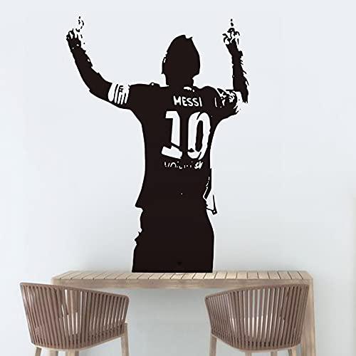 FC Barcelona Fútbol Deportes Fútbol Estrella Jugador Lionel Messi Postura clásica Etiqueta de la pared Calcomanía de vinilo Niños Fans Dormitorio Sala de estar Club Decoración para el hogar Mural