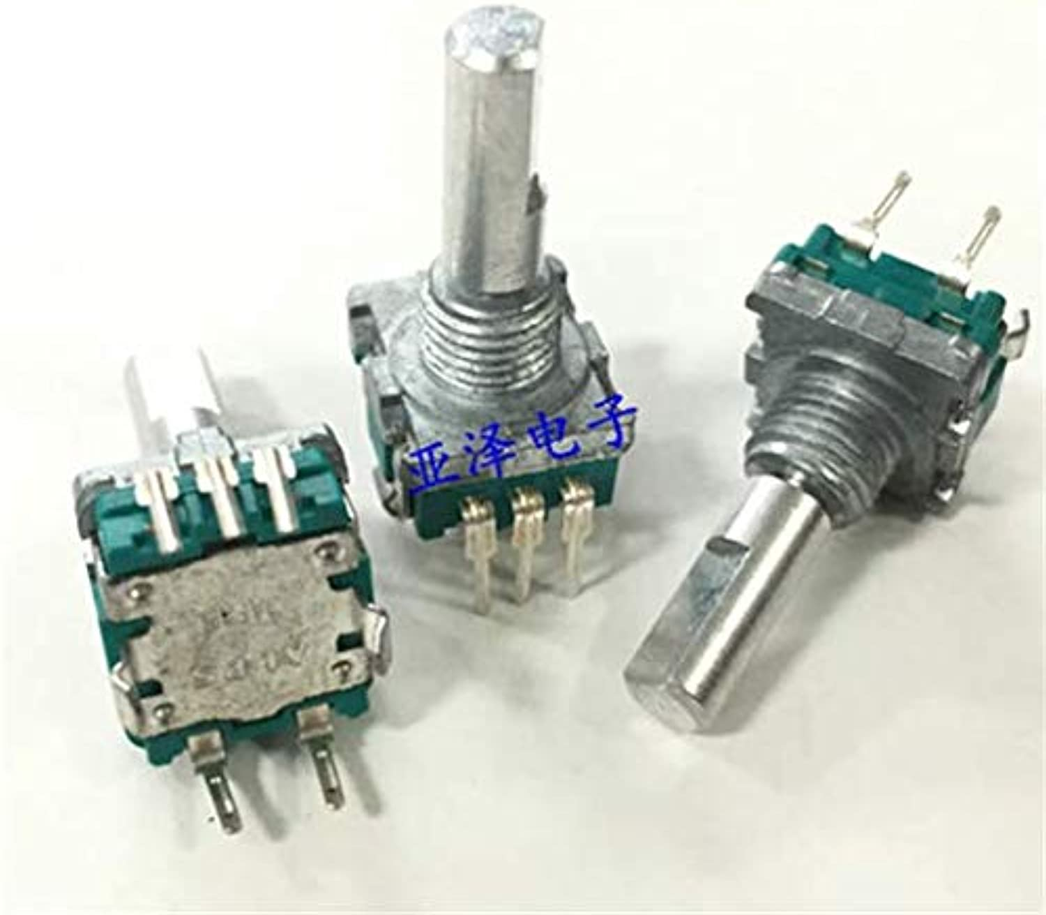 5PCS LOT EC11 Encoder with Switch 30 Positioning Number 15 Pulse Point Fine axis Length 20MM