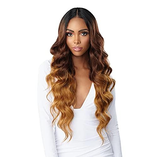 Sensationnel HD Lace Human Hair & Premium Fiber Blend BUTTA LACE HUMAN HAIR BLEND OCEAN WAVE 30″ (1B)