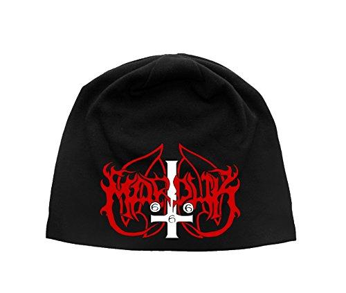 Marduk Mütze Beanie Cap Band Logo Nue offiziell Schwarz Jersey Print