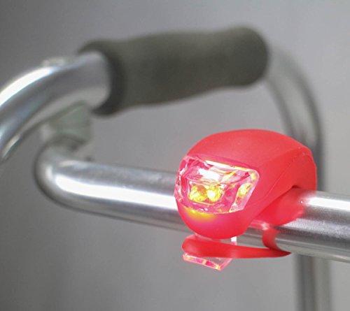 ObboMed MW-0800R Sicherheitsleuchte für Rollstühle, Rollatoren, Gehstelle, Wanderer und Fahrräder, LED Leuchten, 3 Beleuchtungseinstellungen, Spritzwasser geschützt, Batterien enthalten; Rot